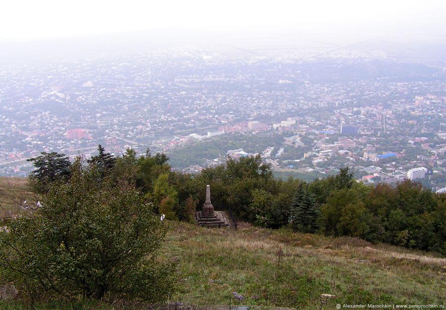 Обелиск на могиле Андрея Васильевича Пастухова на горе Машук в Пятигорске