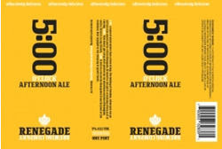 Renegade 5:00 O'Clock Afternoon Ale