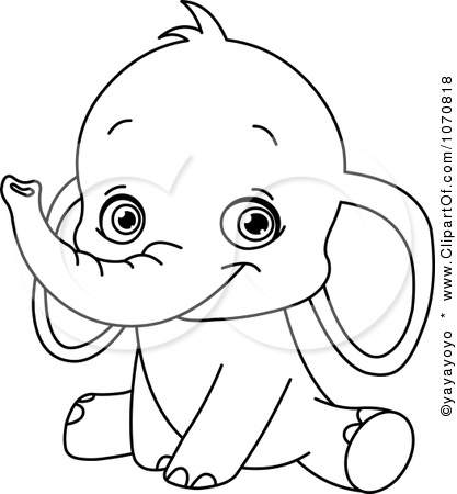 baby elephant coloring pages print - photo#20