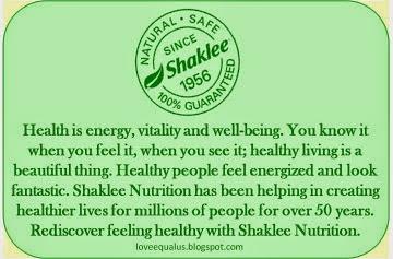 Shaklee..Natural, Safe & 100% Guaranteed