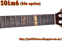 gráfico de Acorde menor con sexta (m6) en Guitarra