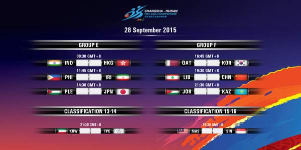 Day 5: FIBA Asia 2015 Results, Scores, Stats & Video Highlights (September 28)