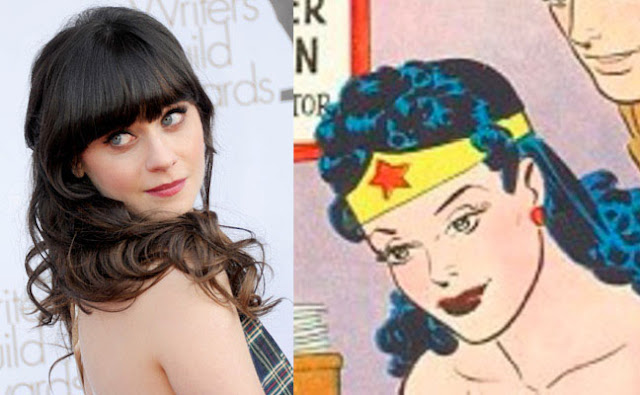 Zoey Deschanel looks like silver age Wonder Woman