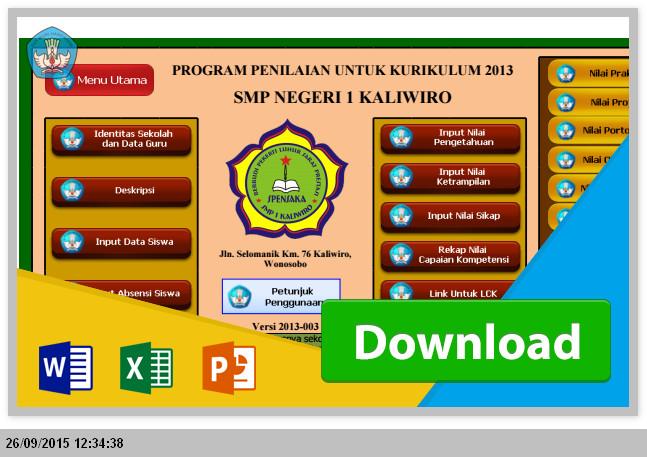 [ Penilaian + Pengisian ] Menggunakan Aplikasi Raport SMP Kurikulum 2013 Microsoft Excel