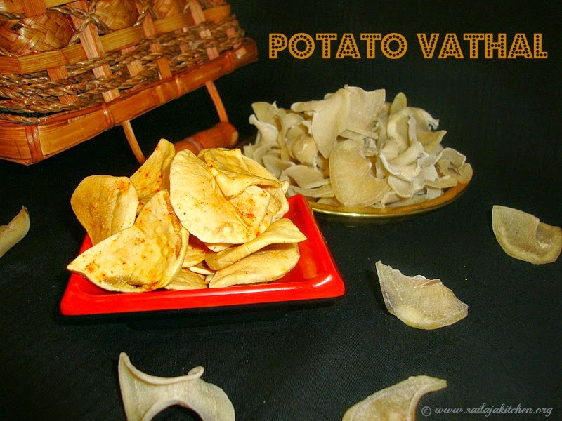 images for Potato Vathal / Urulaikizhangu Vathal / Potato Vadam / Potato Chips
