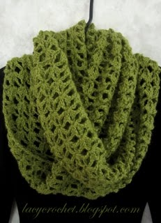 Lacy Infinity Scarf Free Pattern