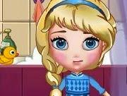 Baby Elsa Clean Bathroom