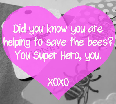 super hero bee saving valentine