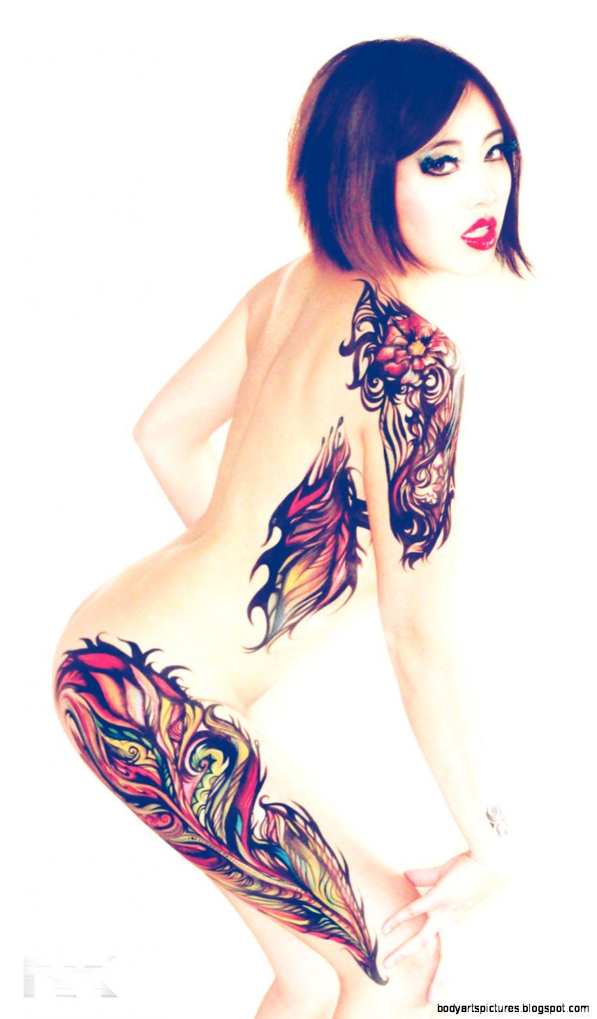 Body Painted Tattoo Design by NatashaKudashkina on DeviantArt