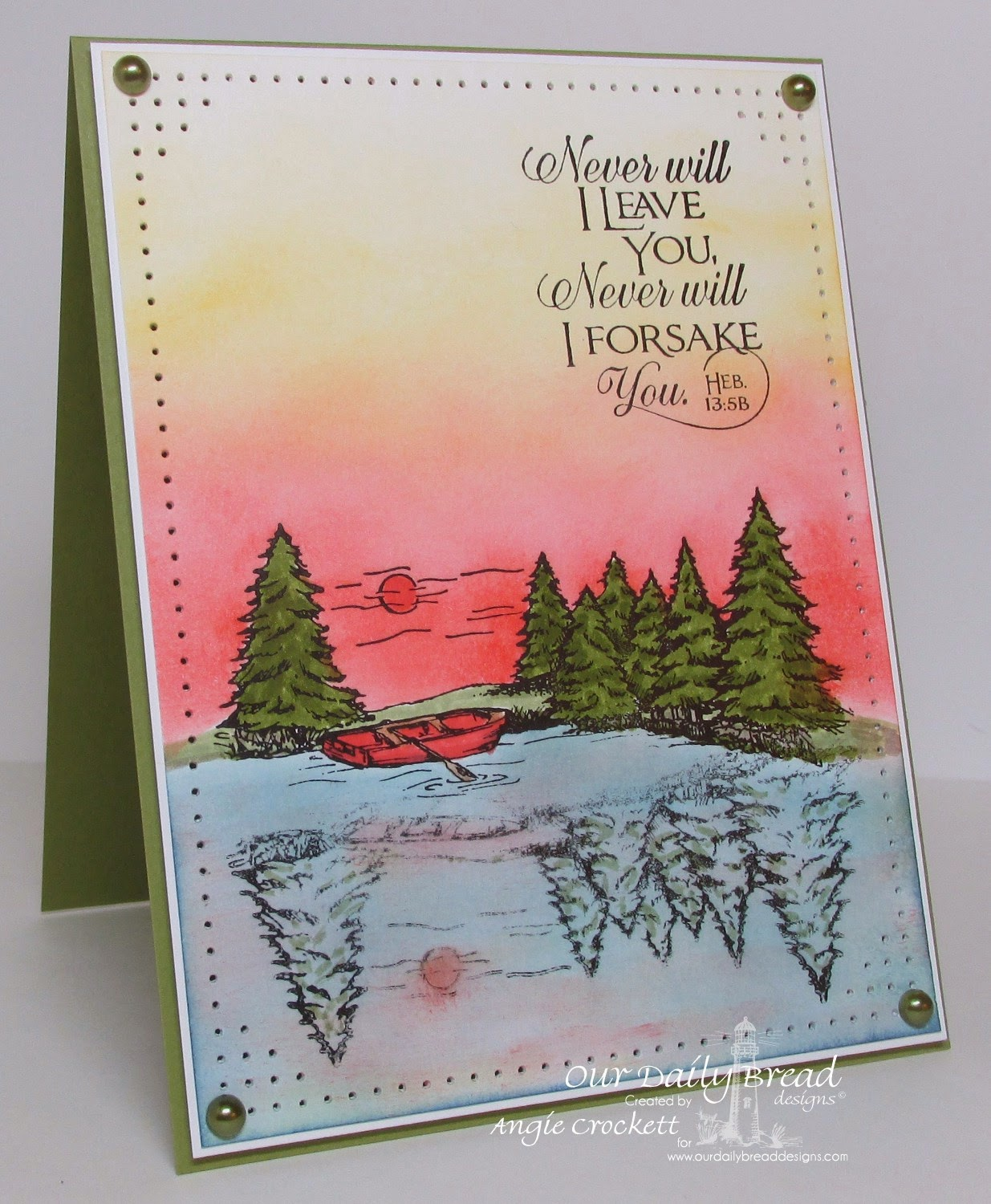 ODBD With Deepest Sympathy, Scripture Collection 10, Card Designer Angie Crockett
