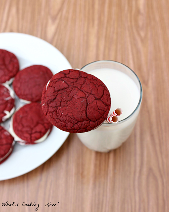 print red velvet sandwich cookies ingredients 1 box red velvet cake ...