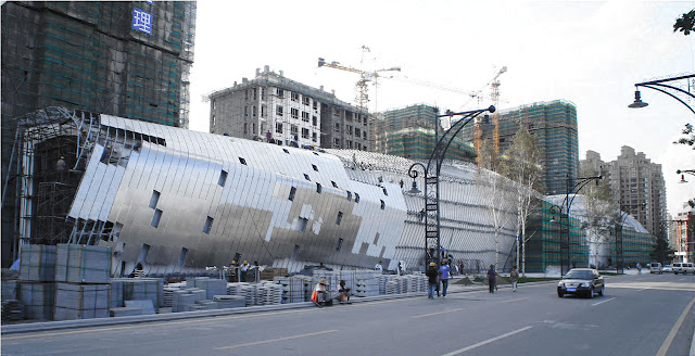 Photo of new museum under construction as seen from the street