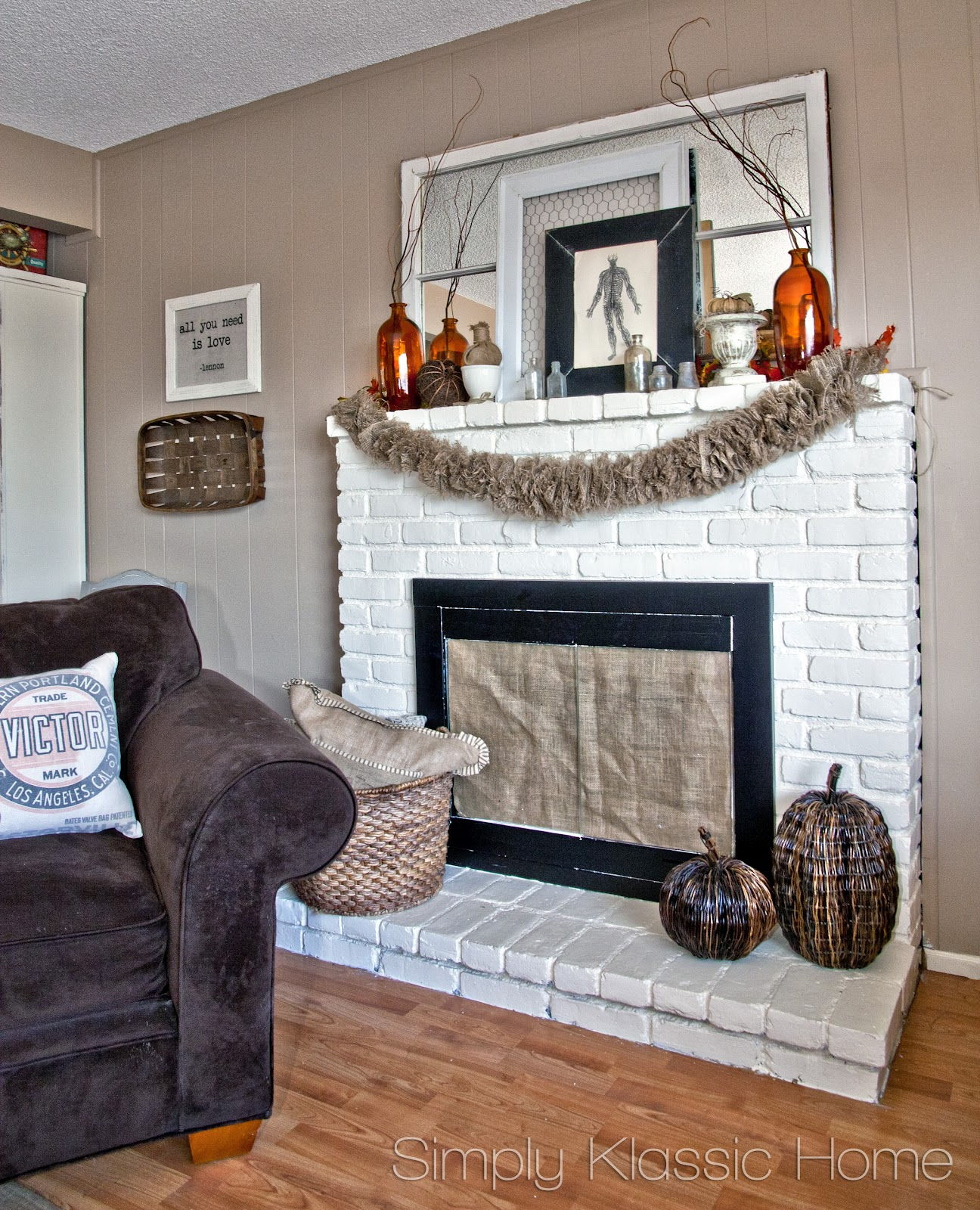 20 Elegant Halloween Home Decor Ideas: My 2012 Fall Mantel