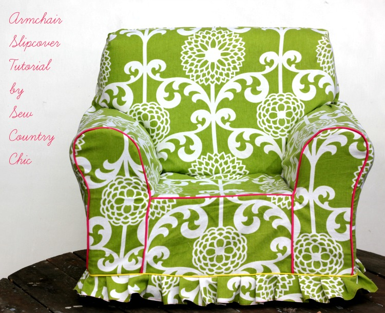 armchair slipcover tutorial