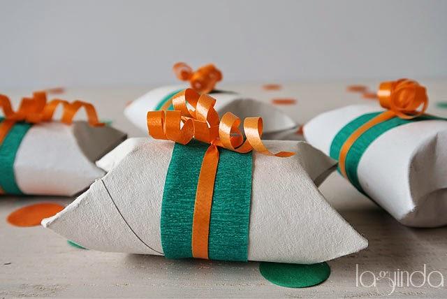 manualidades DIY cajas regalos tubos cartón papel higiénico