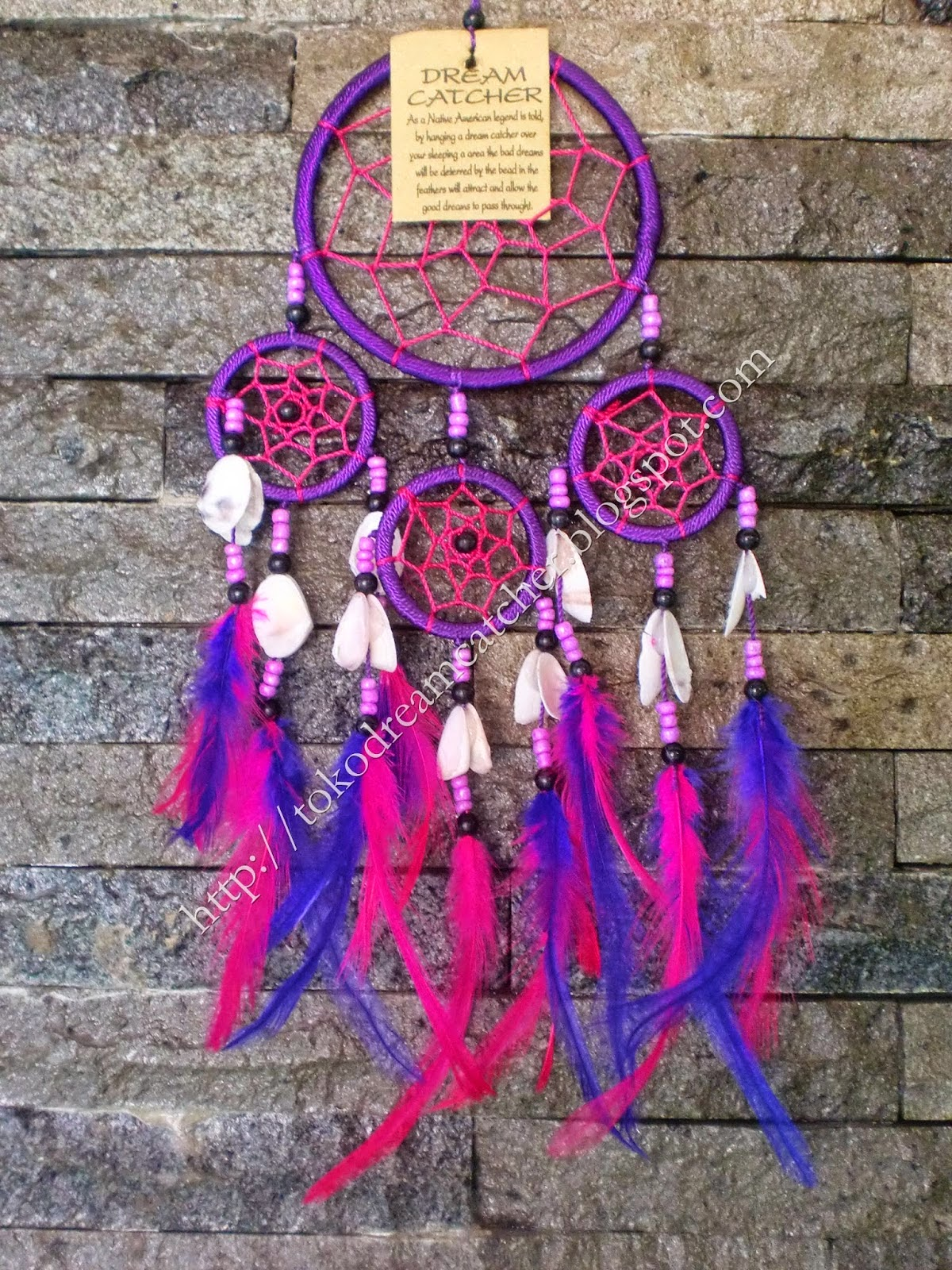 Nice Dream Catchers Jual Dreamcatcher Kode DC40 Purple Toko Dreamcatcher 34