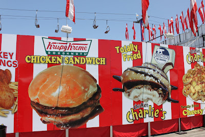 Krispy Kreme chicken sandwich at the fair