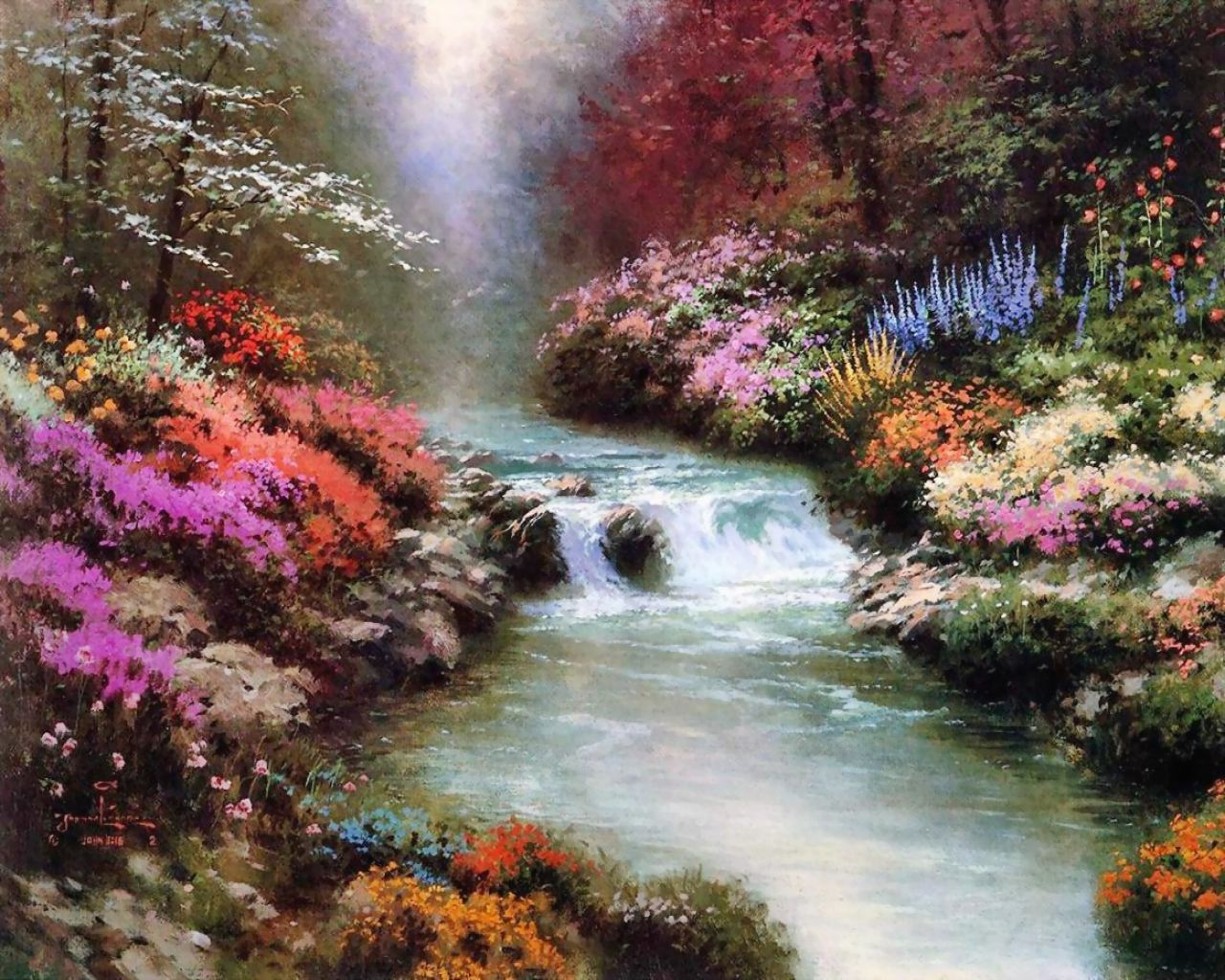 Thomas kinkade art Pictures desktop wallpaper : Thomas kinkade art of ...