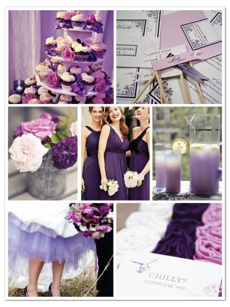 pretty purple wedding inspiration board