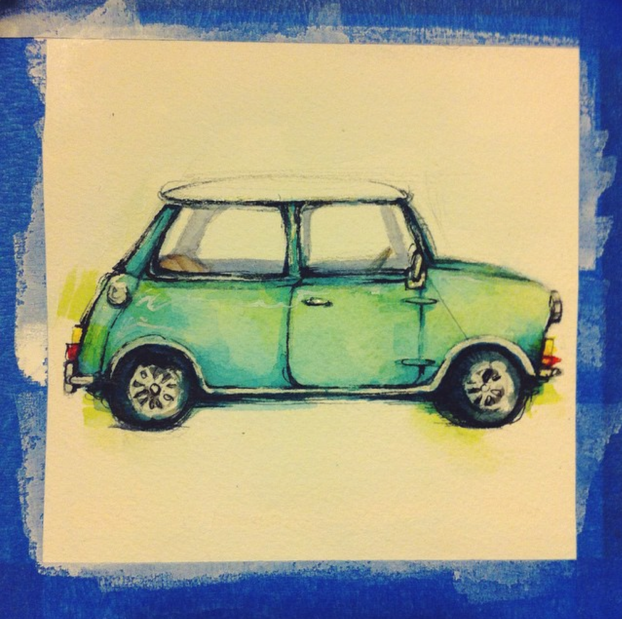 mini cooper illustration j shari ewing jennifer ewing