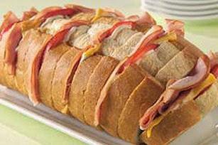 Ham and Cheese Pull Apart Bread Recipe