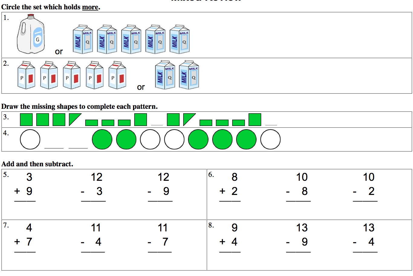 1st Grade 85: 1st Grade Math Test Prep