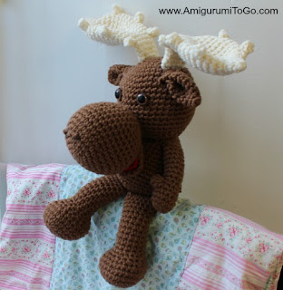 brown stuffed moose