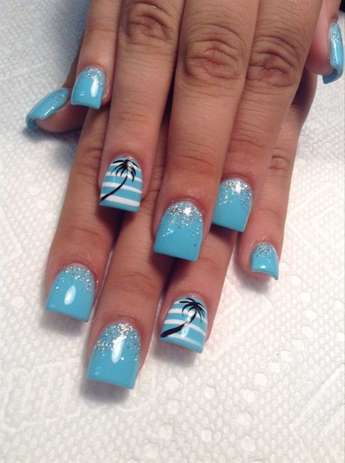 Awesome Tropical Nail Art Designs