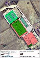 """Planos del Polideportivo municipal """"El Prado"""""""