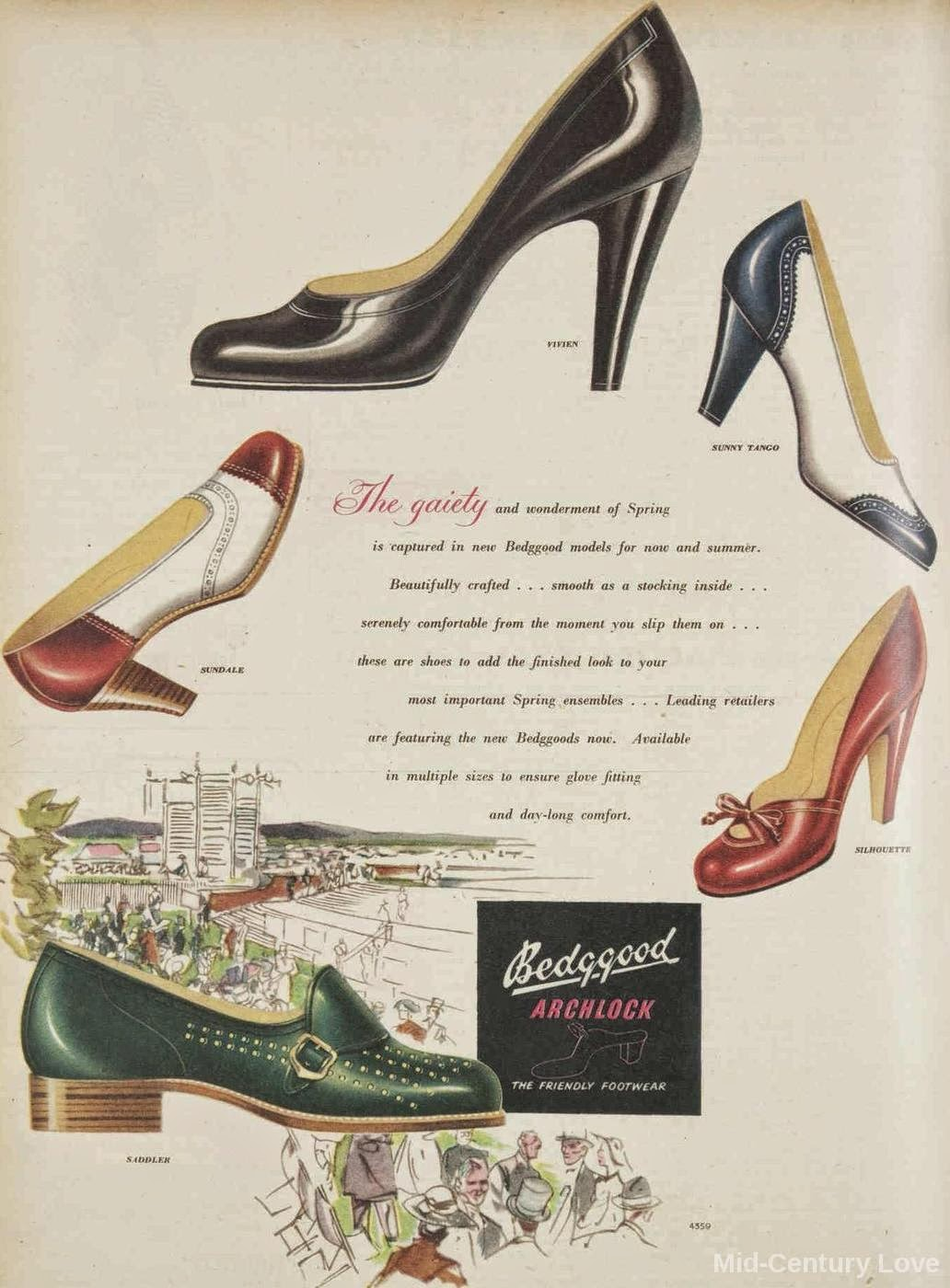 Vintage 1950s shoes ad
