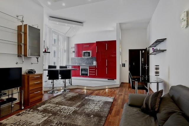 25 peque as cocinas para el sal n cocinas con estilo - Salon cocina rustico ...