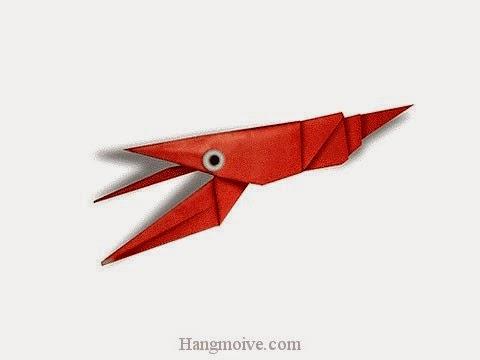 Cách gấp, xếp con tôm hùm bằng giấy origami - Video hướng dẫn xếp hình sinh vật dưới nước - How to fold a Crawfish