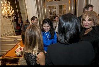 Pulitzer Prize-winning journalist, author, and investment banker, Sheryl WuDunn, alongside the President and CEO of the Corporation for Public Broadcasting, Patricia de Stacy Harrison, met guests prior to taking the stage for the keynote presentation