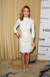 Bethany Joy Galeotti with her white dress