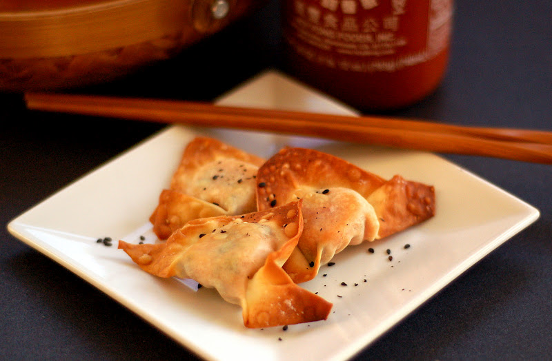 The Grains of Paradise: Baked Sweet Potato Wontons