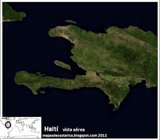 Haití, vista aérea