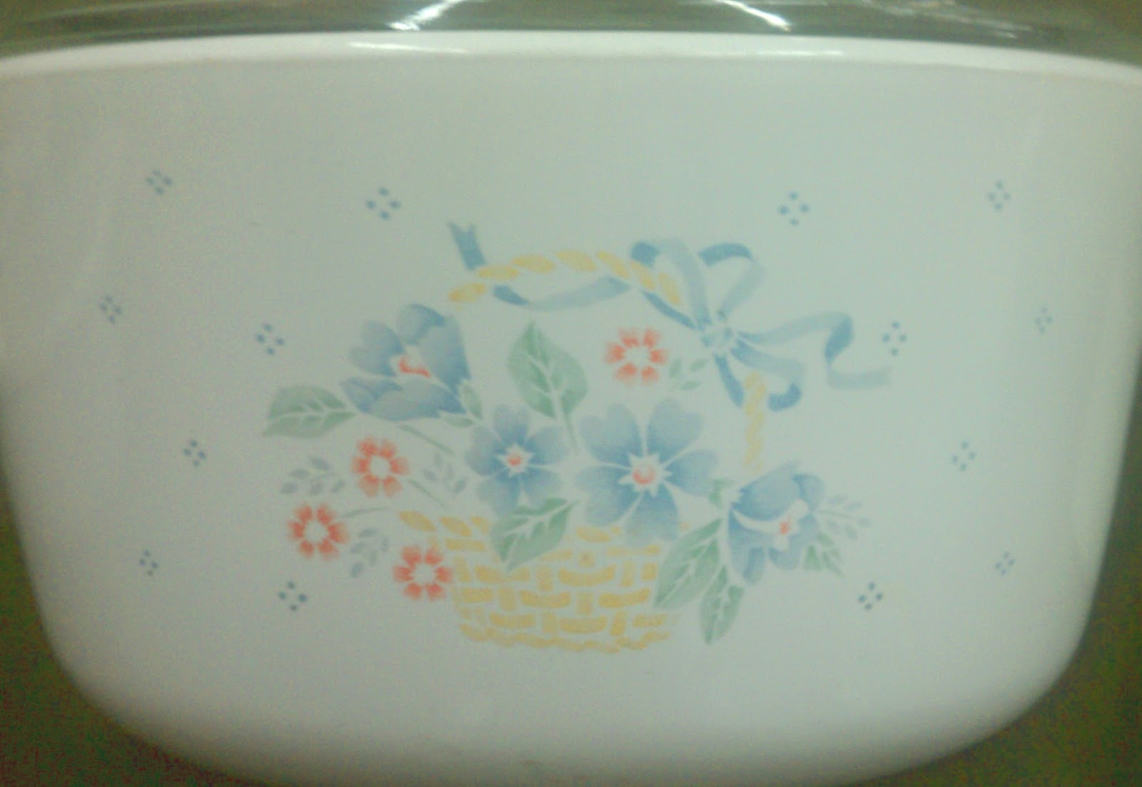 Corningware 411 About Town With Corningware Basket Of Flowers For
