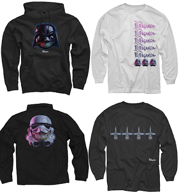 "Star Wars: The Force Awakens ""Grin"" Popaganda T-Shirt Collection by Ron English"