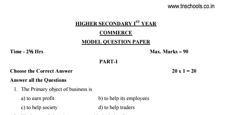 Rbc business model question paper question paper