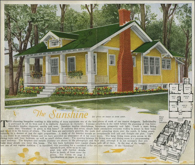 Craftsman Sunshine house