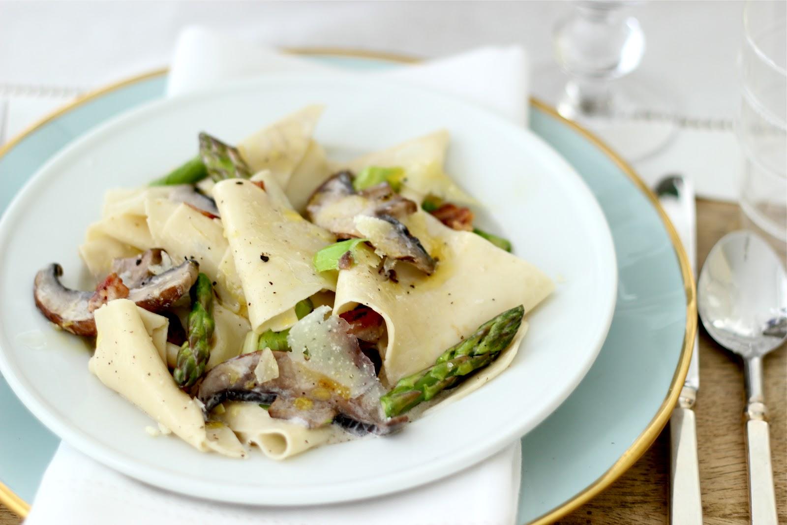 Jenny Steffens Hobick: Asparagus, Mushroom & Leek Spring Pasta