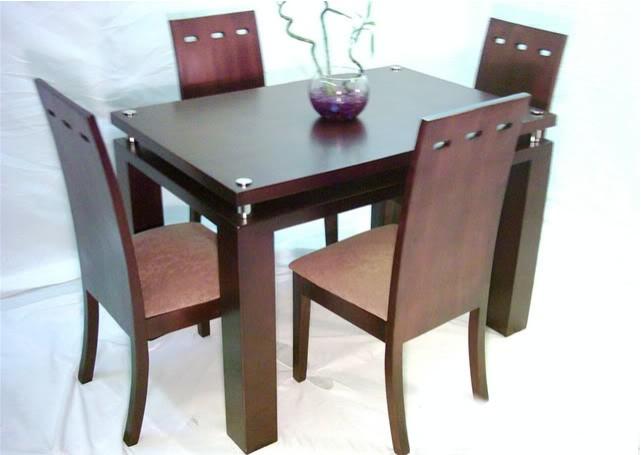 Juegos de comedor mueblesdeksa fabricantes dormitorios for Comedor de madera 4 sillas