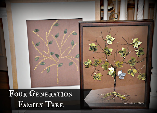 Easy Creative Four Generation Family Tree Project by Serendipity Refined
