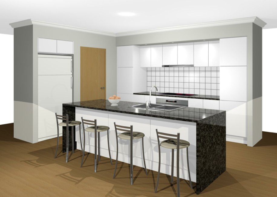 Karina 39 S House Project Pendants Over The Breakfast Bar