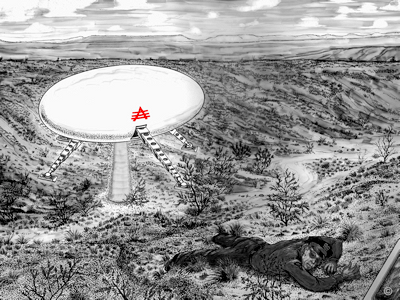 Socorro UFO- Lonnie Zamora Hitting The Dirt