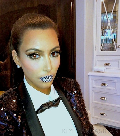 kim kardashian lip tattoo