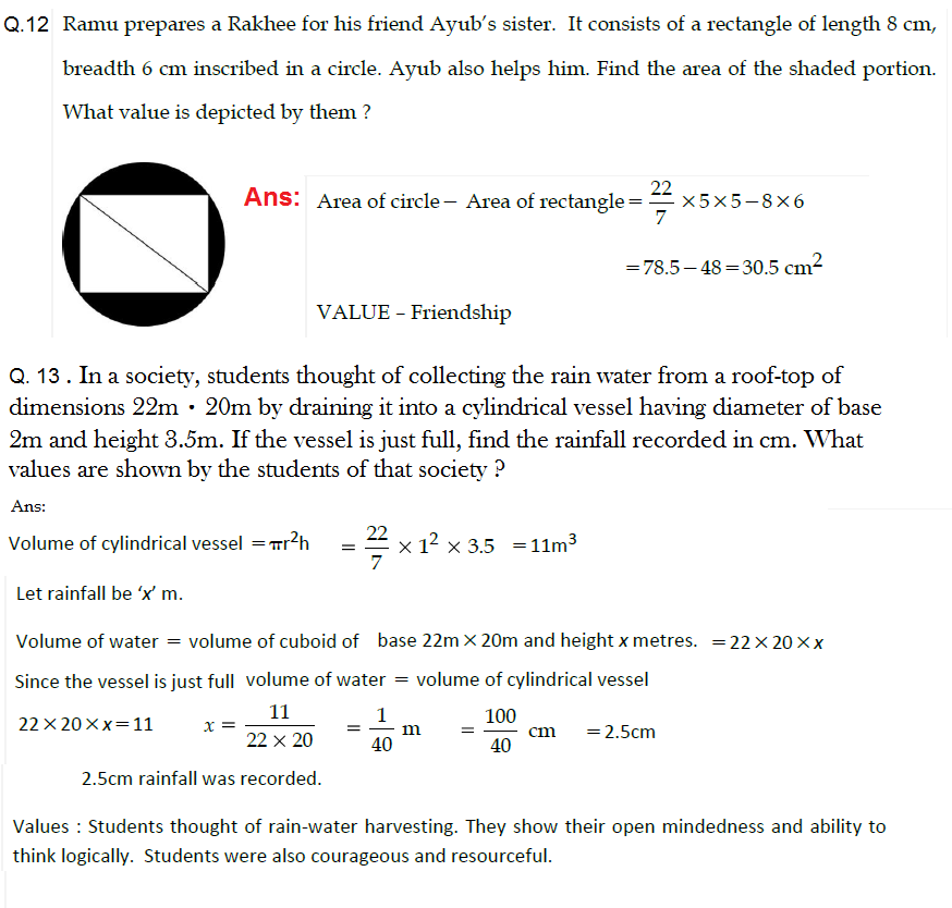 value based questions for mathematics class Cbse practice assignment / questionnaire / important questions/ value based class 9 2017 cbse class 9 science assignment cbse class 9 sst assignment cbse class 9 fit assignment cbse class 9 mathematics assignment cbse class 9 hindi assignment cbse practice read more.