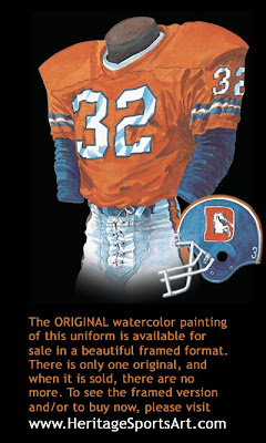 Denver Broncos 1986 uniform
