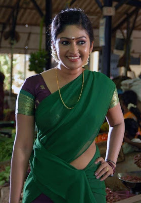 Actress Mithra Kurian Hot in Half Saree Photos