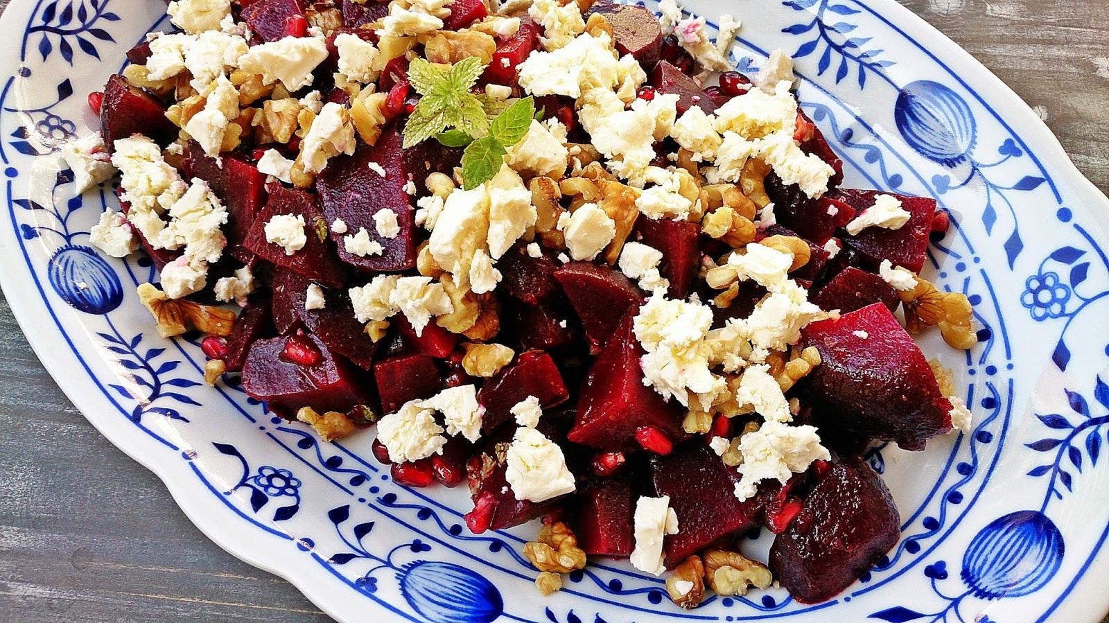 sugar and spice rote bete salat mit granatapfel waln ssen und feta. Black Bedroom Furniture Sets. Home Design Ideas
